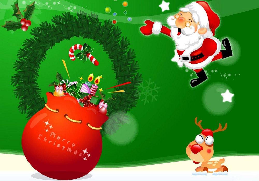 Открытка с поздравлением Рождества Христова на английском